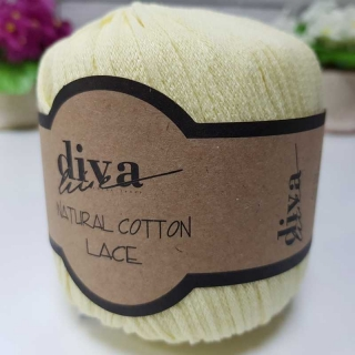 Příze Diva Natural Cotton Lace 1002