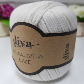 Příze Diva Natural Cotton Lace 288